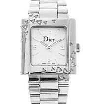 Dior Riva M D98-1014 Mother Of Pearl Diamond Stainless Watch