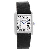 Cartier Tank Solo Steel Silver Dial Unisex Watch W1018355 Box...