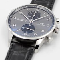 IWC Portuguese Chronograph Steel 40.9mm Grey Arabic numerals United States of America, Texas, Houston
