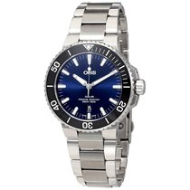 Oris Aquis Date Blue Dial Stainless Steel Men's Watch 73377304...