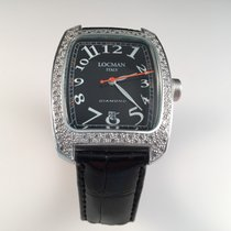 Locman Sport Tonneau Aluminum 31mm Black Arabic numerals