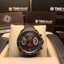 TAG Heuer Kronograf 43mm Automatisk 2015 begagnad Grand Carrera Svart