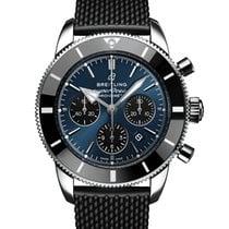 Breitling Superocean Héritage II Chronographe Stahl 44,00mm Blau Arabisch