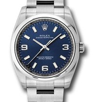 Rolex Oyster Perpetual 34 Steel 34mm Blue Arabic numerals United States of America, New York, New York