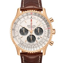 Breitling Red gold Automatic Silver No numerals 46mm new Navitimer 01 (46 MM)