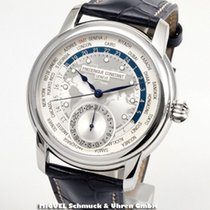 Frederique Constant Manufacture Worldtimer Staal 42mm Zilver