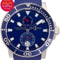 Ulysse Nardin White gold Automatic Blue 42,7mm pre-owned Maxi Marine Diver