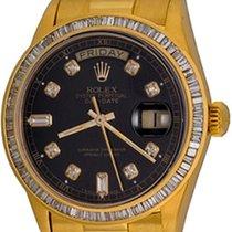 Rolex Day-Date 36 Gelbgold 35mm Schwarz Keine Ziffern
