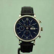 IWC Portofino Chronograph Staal 42mm Blauw Nederland, Den Haag