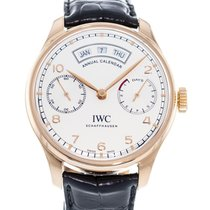IWC Portuguese Annual Calendar Rose gold 44mm Silver