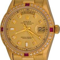 Rolex Day-Date 36 Sárgaarany 35mm Pezsgőszínű Számjegyek nélkül