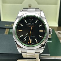 Rolex Milgauss 116400V Green Box and papers Full Set Mint