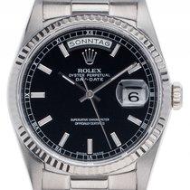 Rolex Day Date Double Quick 18kt Weißgold Automatik Armband...