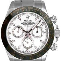 116520 Daytona Mens Watch In Steel, With White Dial & Black...