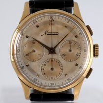 Minerva Yellow gold Manual winding 37mm pre-owned