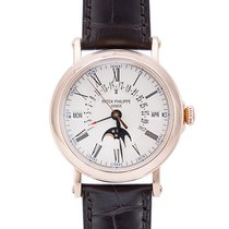 Patek Philippe 38mm Automatic 2011 pre-owned Perpetual Calendar White