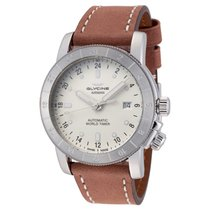 Glycine Airman Steel 42mm Silver