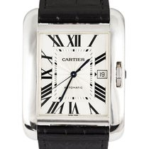 Cartier Tank Anglaise Witgoud 47mm Zilver Romeins