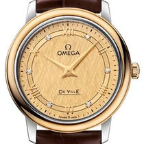 Omega De Ville Prestige Золото/Cталь 27.4mm Цвета шампань