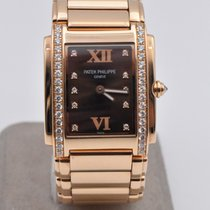 Patek Philippe Twenty~4 Rose gold 25mm Brown No numerals