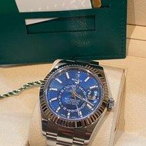 Rolex Sky-Dweller Stahl 42mm Blau Keine Ziffern