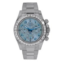 Rolex Daytona Platinum Diamond Bezel Ice Blue Dial Watch...