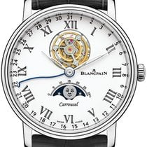Blancpain Platinum Automatic White 42mm new Villeret Moonphase