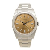Rolex Oyster Perpetual Stainless Steel Brown Automatic...