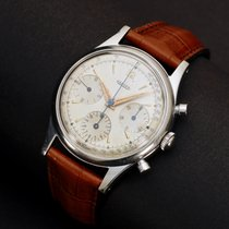 Jaeger-LeCoultre Chronograph, Early Oversized 1950s, Steel