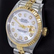Rolex Datejust 69173 Jubilee 18k Yellow Gold & Ss Mop Diamond...