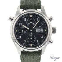 IWC Pilot Double Chronograph tweedehands 42mm Staal