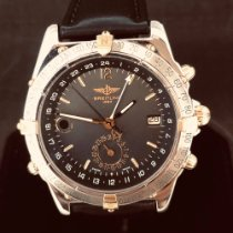 Breitling Duograph Gold/Steel 40mm Black No numerals