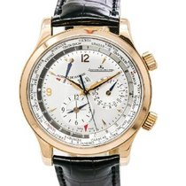 Jaeger-LeCoultre Master World Geographic Ouro rosa 42mm Champanhe Sem números