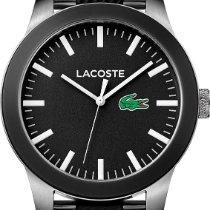 Lacoste Plastic Quartz Black 38mm new