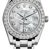 Rolex Pearlmaster White gold 34mm Mother of pearl