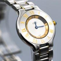 Cartier 21 Must de Cartier Gold/Stahl 28mm Silber Römisch