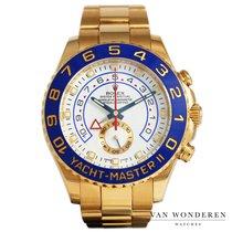 Rolex Yacht-Master II Geelgoud 44mm Wit Nederland, Purmerend