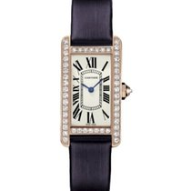 Cartier Tank Americaine Ladies' Watch 18K Rose Gold Silver...