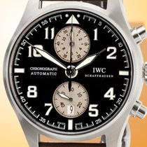 IWC Pilot Spitfire Chronograph pre-owned 43mm Brown Chronograph Date Calf skin
