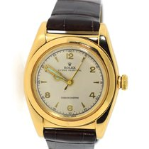 Rolex Yellow gold Manual winding 32mm pre-owned Bubble Back