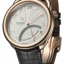 Hermès Arceau Rose gold 43mm White Arabic numerals United States of America, New York, Greenvale