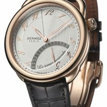 Hermès Rose gold Automatic White Arabic numerals 43mm pre-owned Arceau