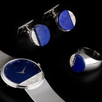 Omega 18k W/Gold Lapis Lazuli Dial DeVille Gents Watch &...