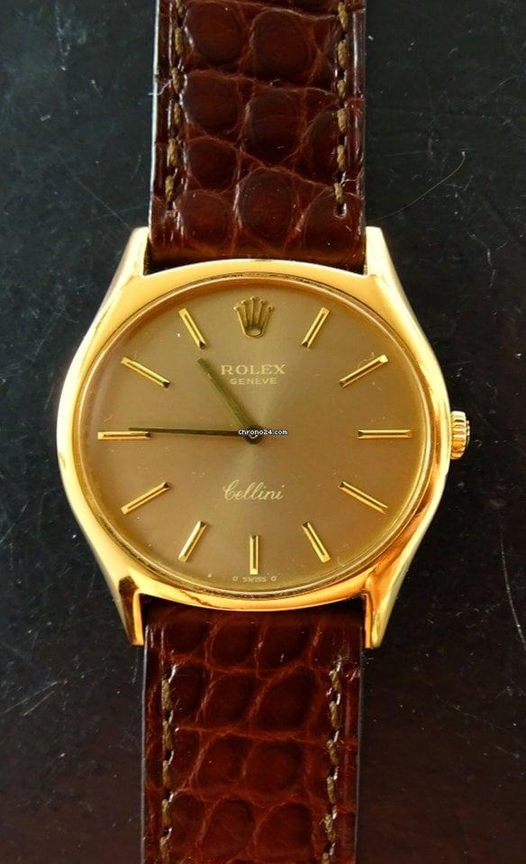 Rolex Cellini 32 mm Yellow Gold 18K 750 Vintage Luxury Watch