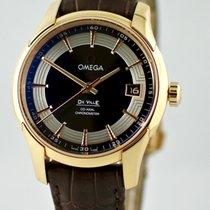 Omega De Ville Hour Vision Sárgaarany 41mm Barna Számjegyek nélkül