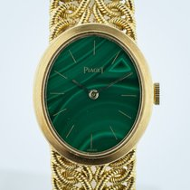 Piaget Vintage Ladies, Ref 6821, 18K Yellow Gold, Malachite