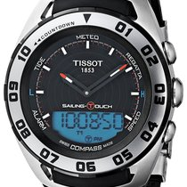 Tissot Sailing-Touch Zeljezo 45mm Crn Bez brojeva