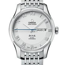 Omega De Ville Co-Axial Acero 41mm Plata