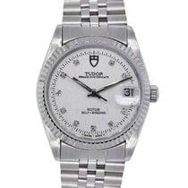 Tudor Prince Date Steel 34mm White
