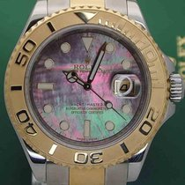 Rolex YachtMaster 16623 Gold Steel 40mm Engraved Serial 2007 MOP